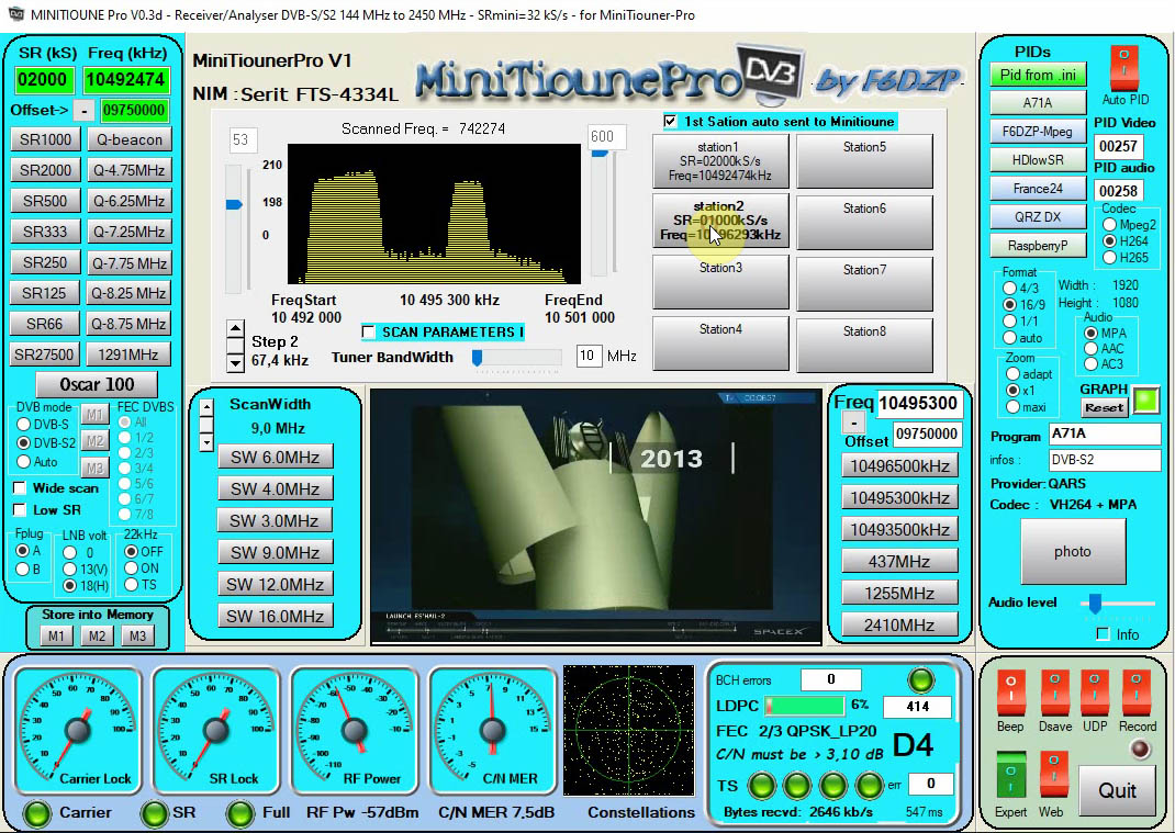 MinitiounePro receiving Beacon and scanning9MHz _beacon and 1 new station.jpg