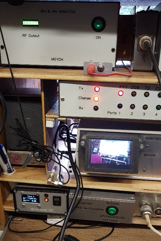 Portable station on 4m tests